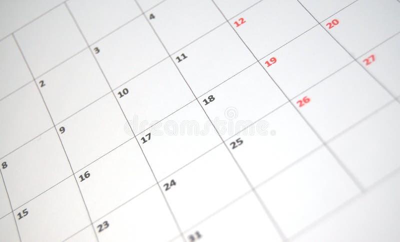 简单的日历 库存图片