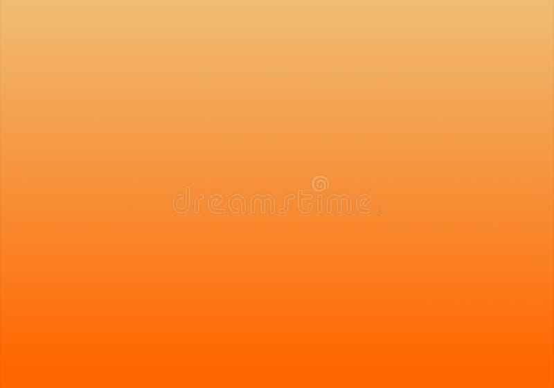 简单的桔子&白色抽象背景与辐形梯度作用 向量例证