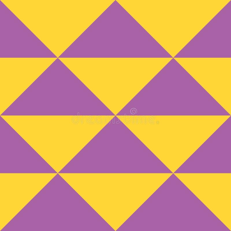 简单的橙色和紫色颜色三角的传染媒介几何无缝的样式  皇族释放例证