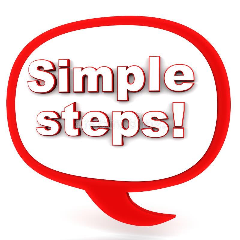 简单的步 向量例证