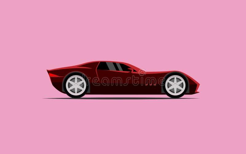 简单的汽车炫耀小轿车 皇族释放例证