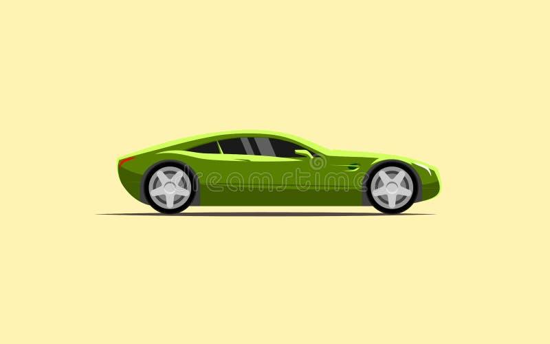 简单的汽车炫耀小轿车 向量例证