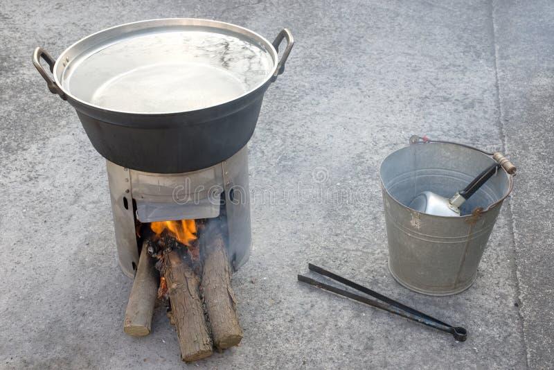 简单的火炉 库存图片
