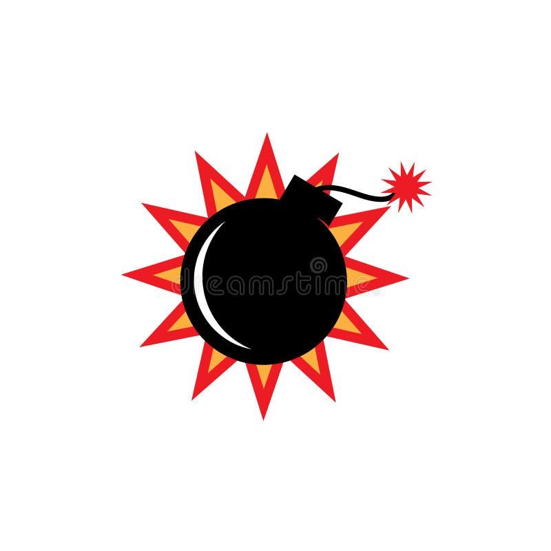 简单的炸弹商标传染媒介象例证 皇族释放例证
