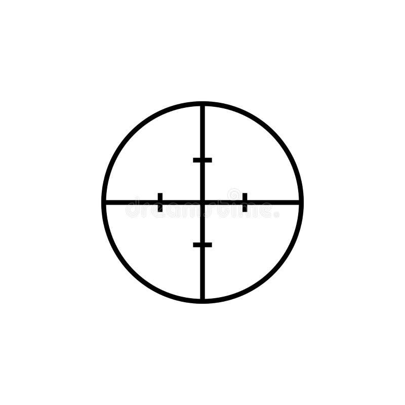 简单的狙击手目标黑色象 库存例证