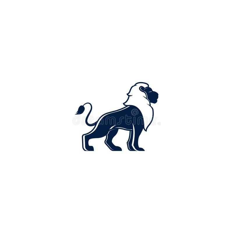 简单的独特的狮子商标例证 狮子传染媒介商标设计例证模板 皇族释放例证