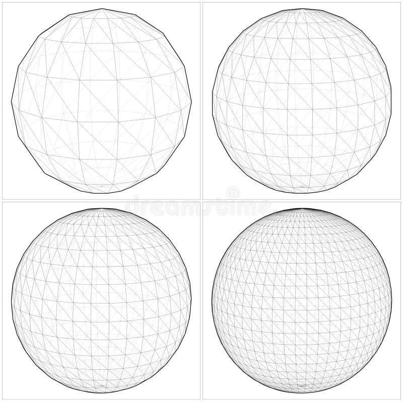 从简单的球形到复杂的形状传染媒介07 向量例证
