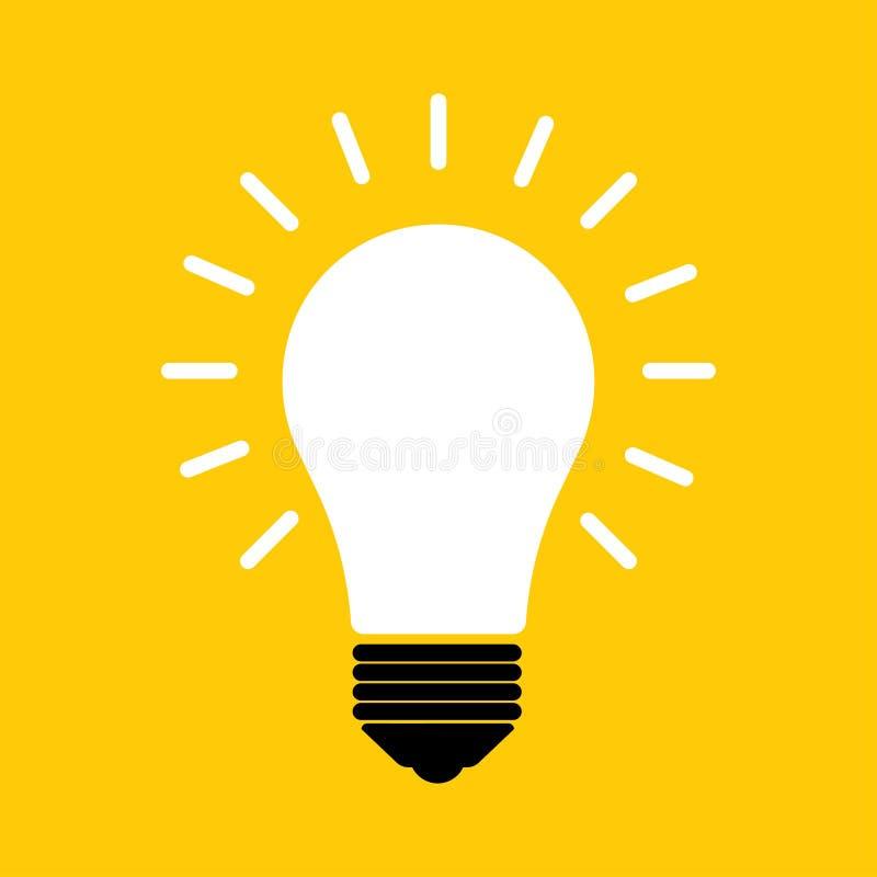 简单的电灯泡象 也corel凹道例证向量 皇族释放例证
