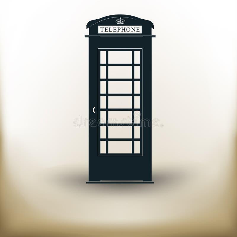 简单的电话客舱 向量例证