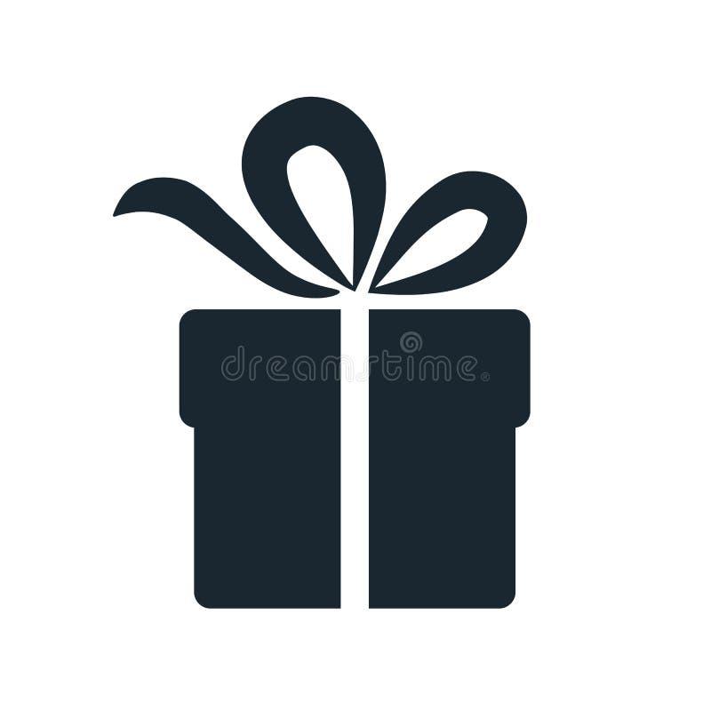 简单的礼物盒象 在wh隔绝的唯一颜色设计元素 向量例证
