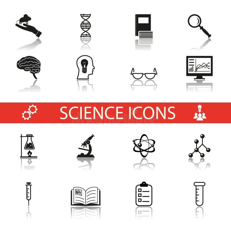 简单的科学和研究象符号集 皇族释放例证