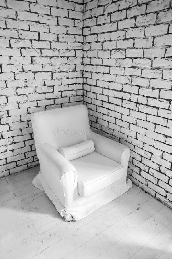 简单的空白墙壁内部 免版税库存照片