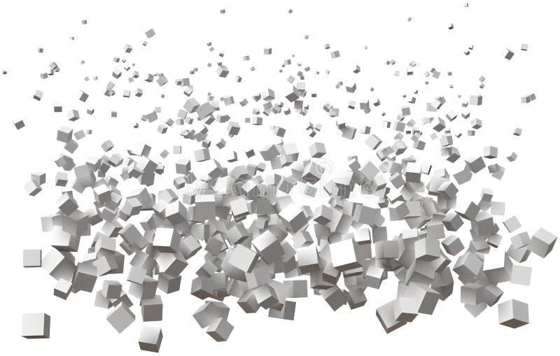 简单的立方体波浪  是的大小更大的从顶向下 皇族释放例证
