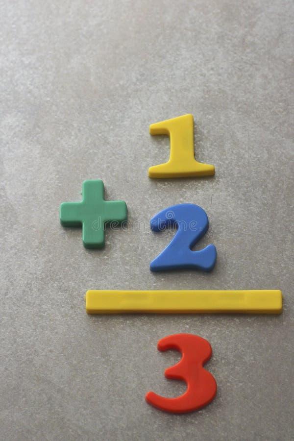 简单的算术等式 免版税库存照片