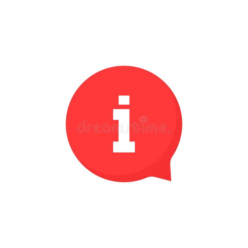 简单的红色信息象泡影 向量例证