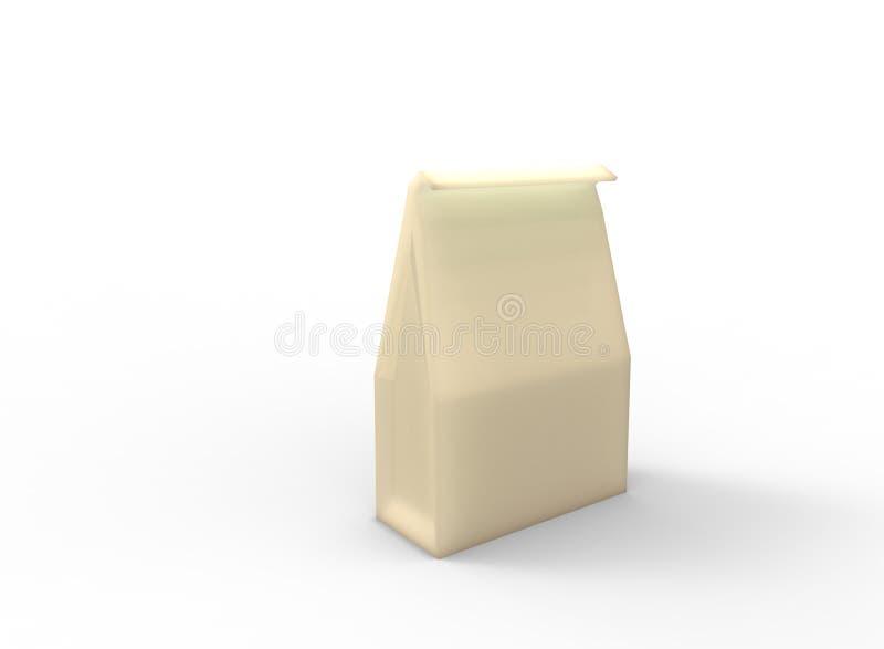 简单的纸袋 皇族释放例证