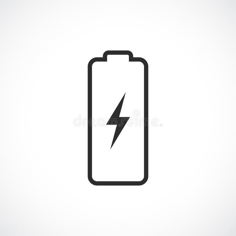 简单的线性电池象 皇族释放例证