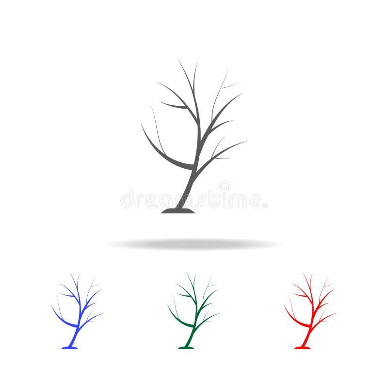 简单的结构树图标 在多色的象的元素流动概念和网apps的 网站设计和发展的, app d象 向量例证