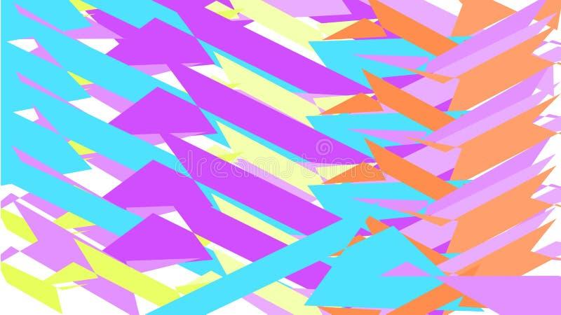 简单的背景,不同minimalistic多彩多姿的摘要纹理雕刻了黏附锐利不同的明亮的线, geometri 向量例证