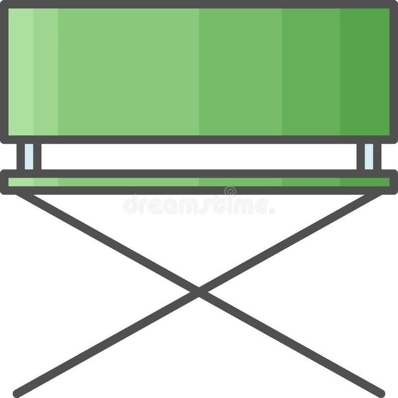 简单的艺术性和爱好传染媒介FlatÂ象 绘的吊床椅子外面 平的样式象 48x48完善的映象点 库存例证