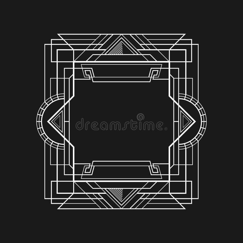 简单的艺术装饰框架 库存例证