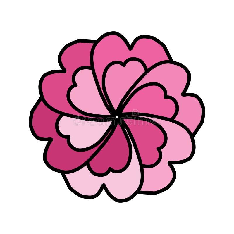 简单的花卉坛场印刷品 抽象花大奖章 向量例证