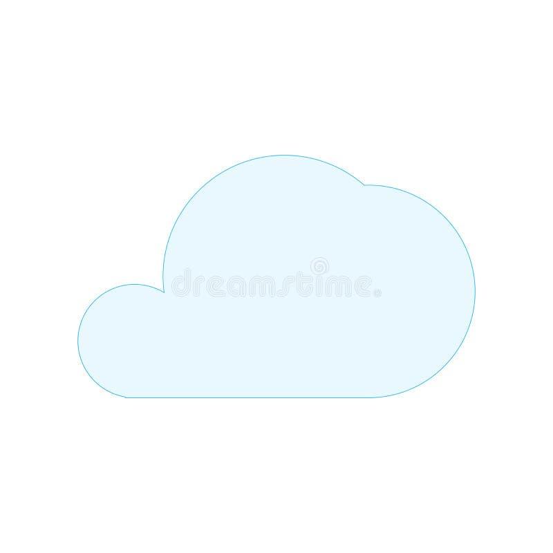 简单的蓝色云彩形状标志 在空白背景查出的向量例证 皇族释放例证