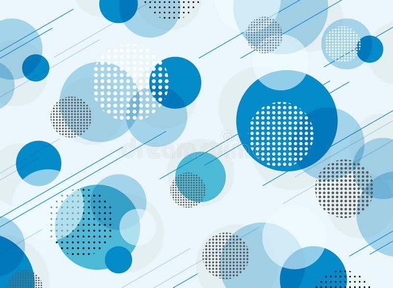 简单的蓝色几何样式背景摘要  皇族释放例证