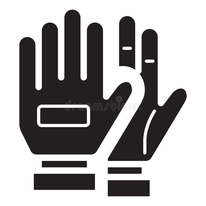 简单的足球手套相关传染媒介平的象 纵的沟纹样式 128x 皇族释放例证