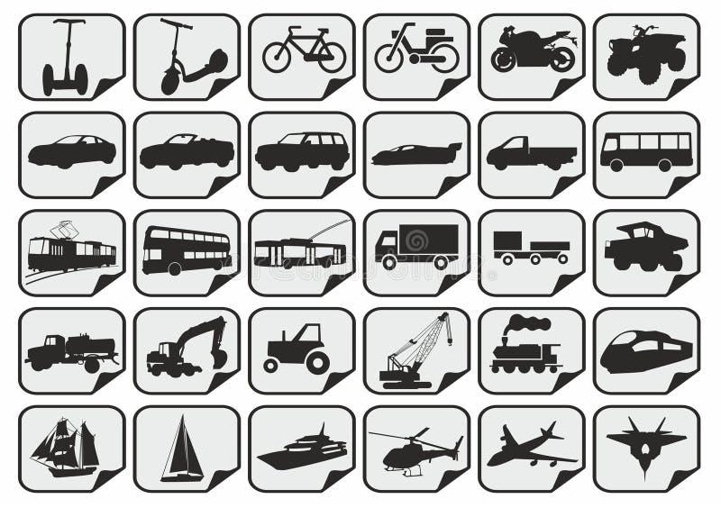 简单的运输象 库存例证