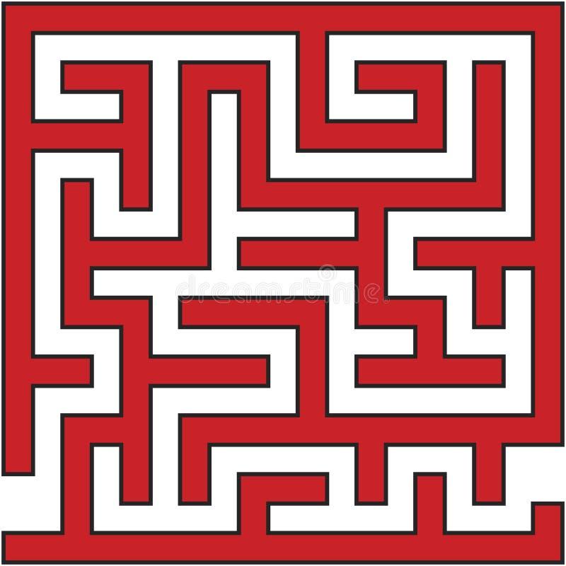 简单的迷宫迷宫 免版税库存图片