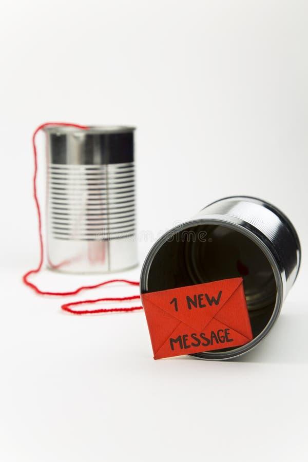 简单的通信的新技术 免版税库存照片