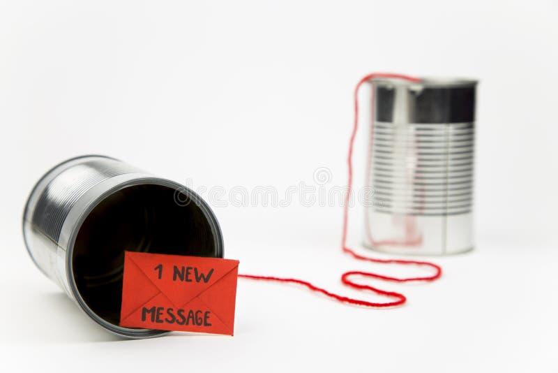 简单的通信的新技术 免版税库存图片