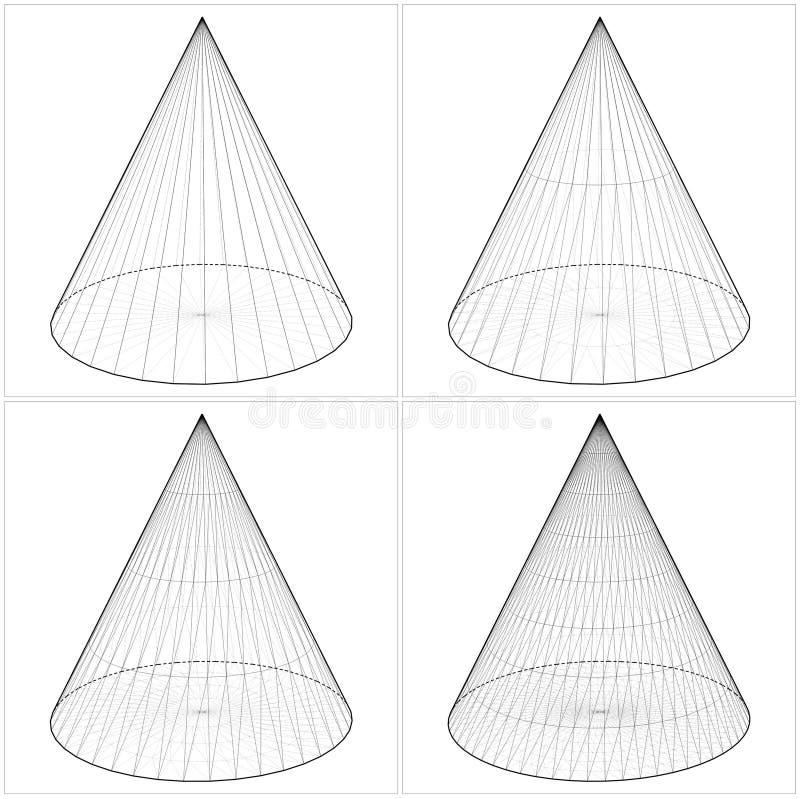 从简单的锥体到复杂的形状Vect 皇族释放例证