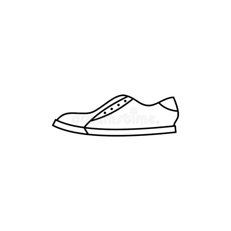 简单的鞋子概述象 皇族释放例证