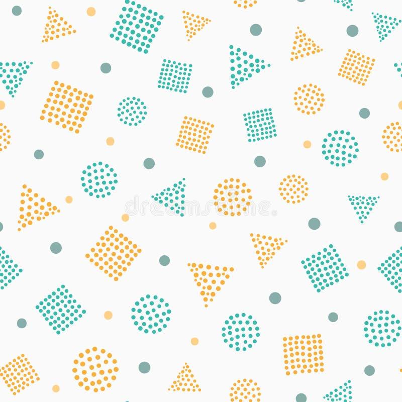 简单的颜色几何无缝的样式 皇族释放例证
