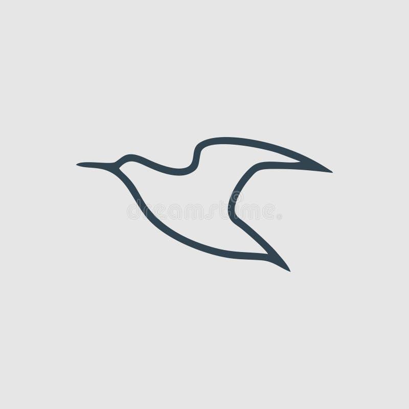 简单的鸟飞行组合图案设计商标启发 库存例证