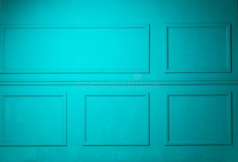 简单的经典绿松石内部 免版税库存图片