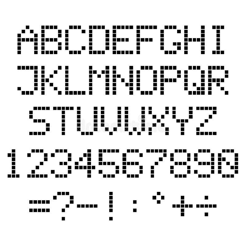 映象点字母表 库存例证