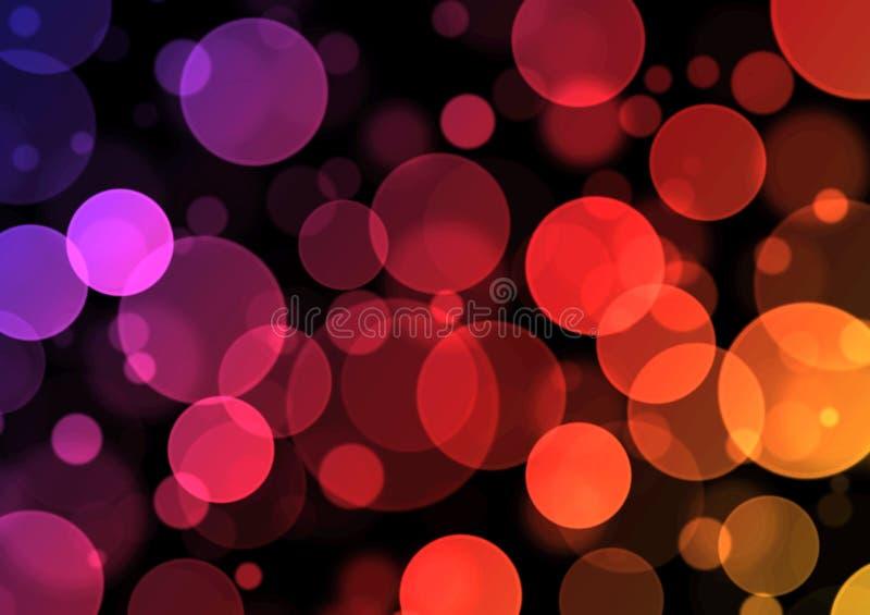 简单的Bokeh紫色的Backround -/红色/黄色 图库摄影