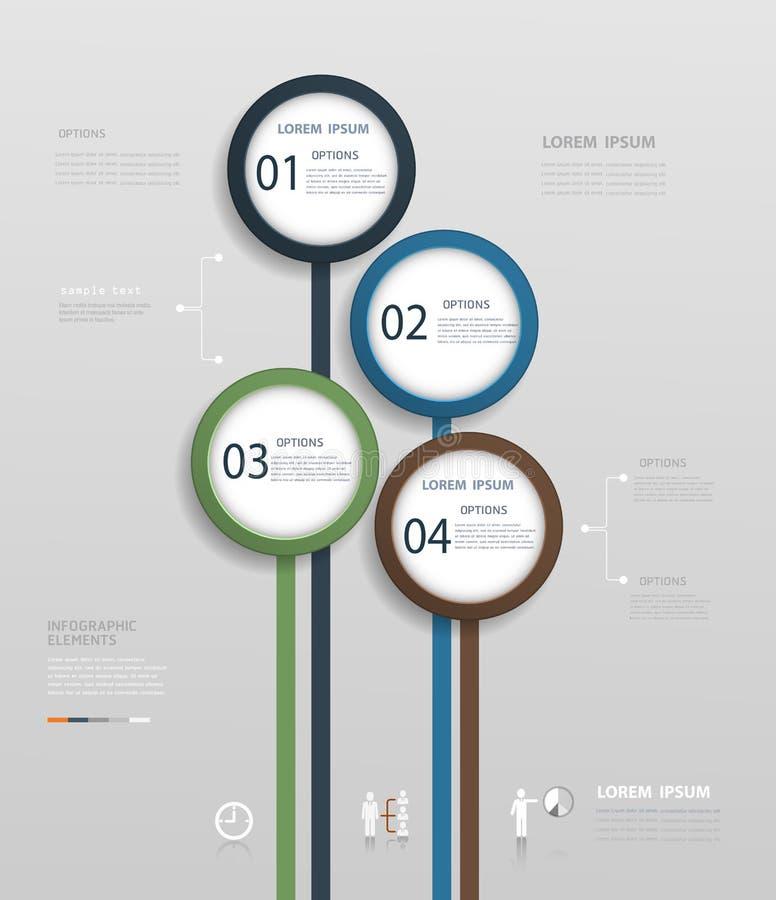 简单的Infographic设计模板 向量例证