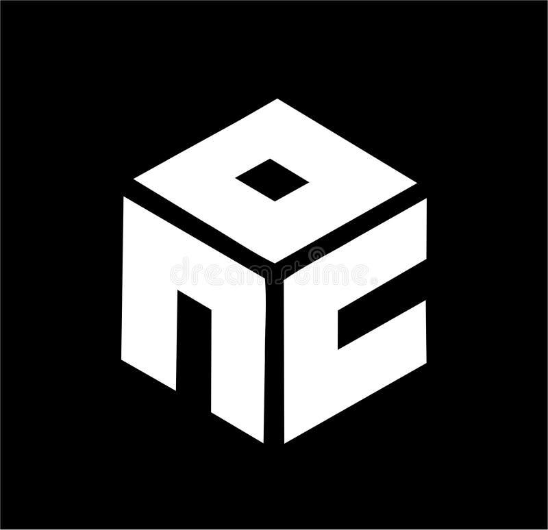 简单的nc,cn,NOC,骗局,OC-N最初公司传染媒介商标 向量例证
