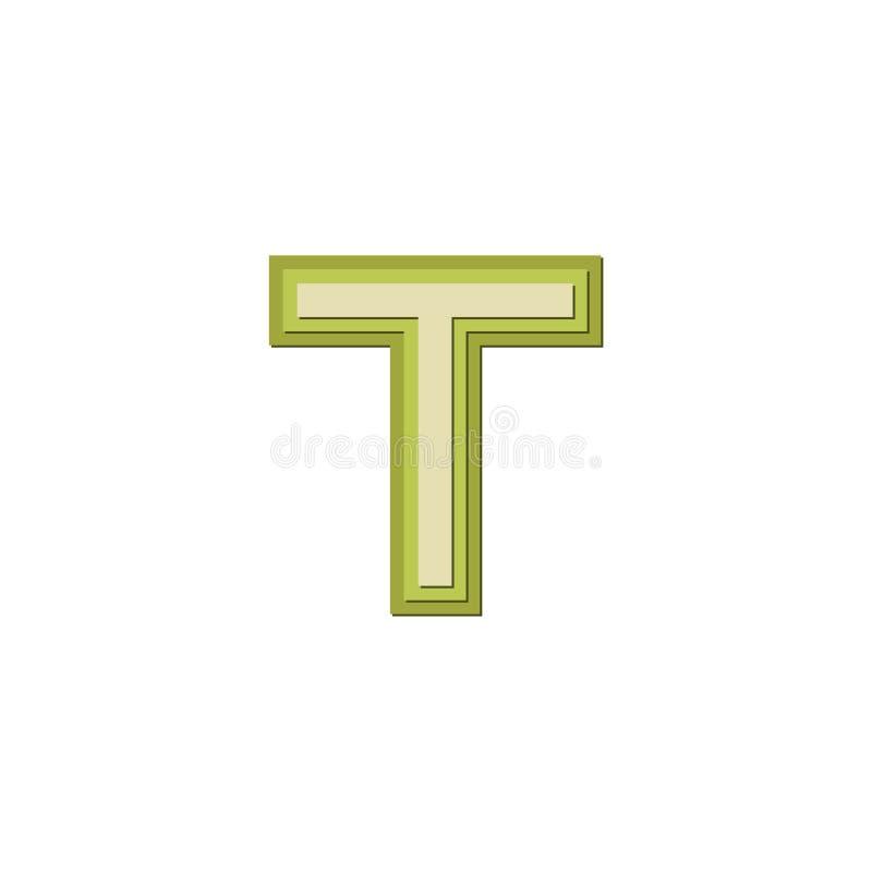 简单的T时髦现代信件商标设计 向量例证