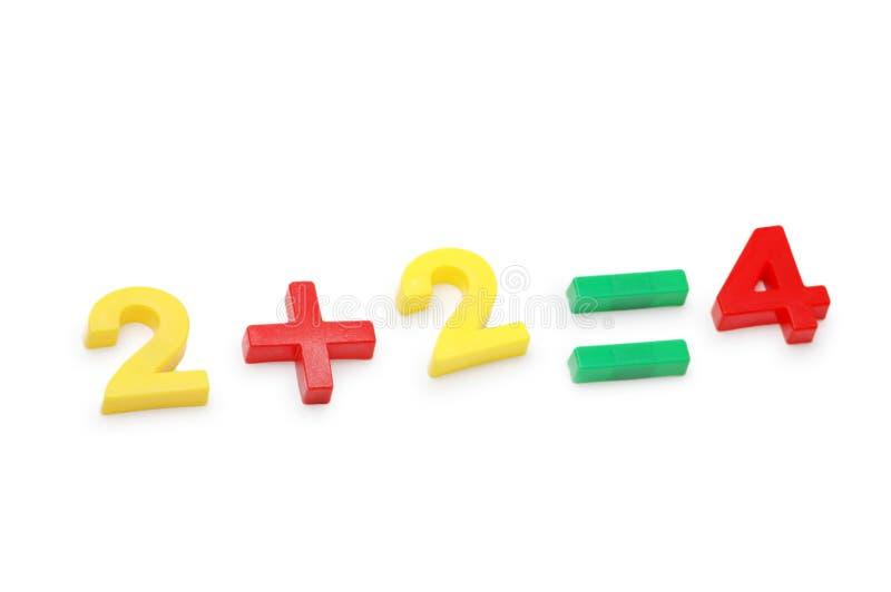 简单示例的算术 免版税库存图片