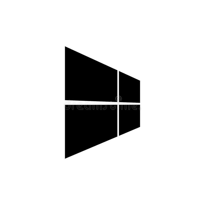 简单设计窗口象传染媒介模板 皇族释放例证