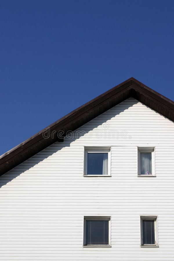 简单详细资料的房子 免版税库存图片