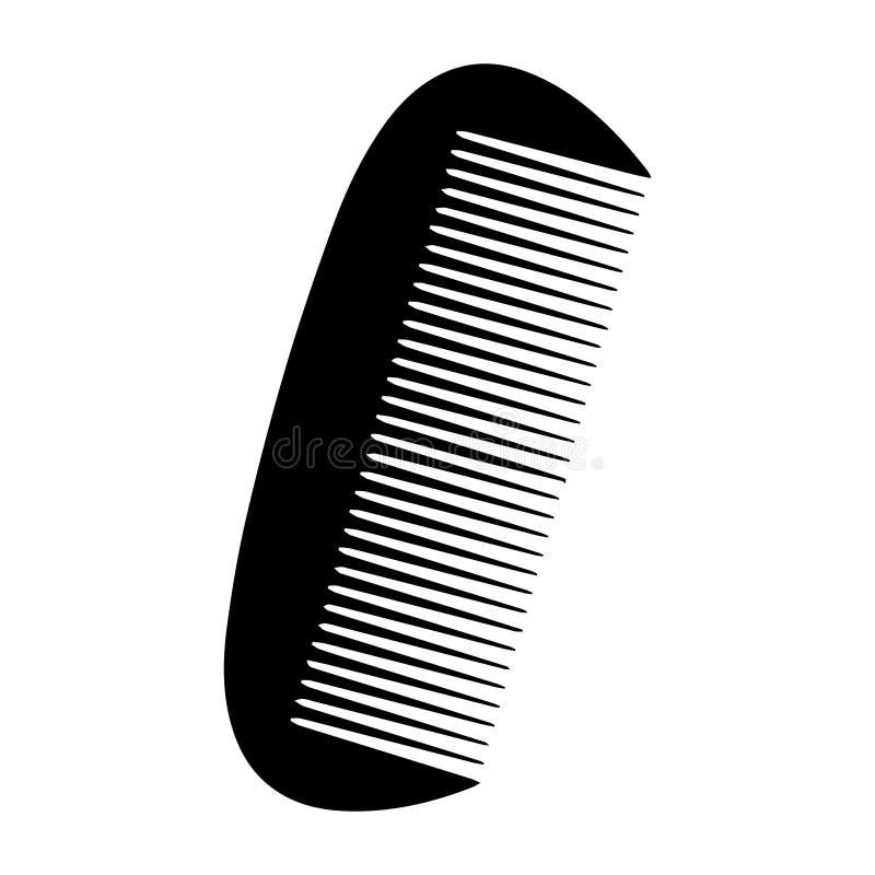 简单,小梳子剪影例证 查出在白色 向量例证