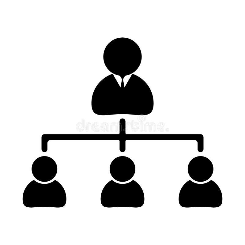 简单,黑在白色组织系统图 向量例证