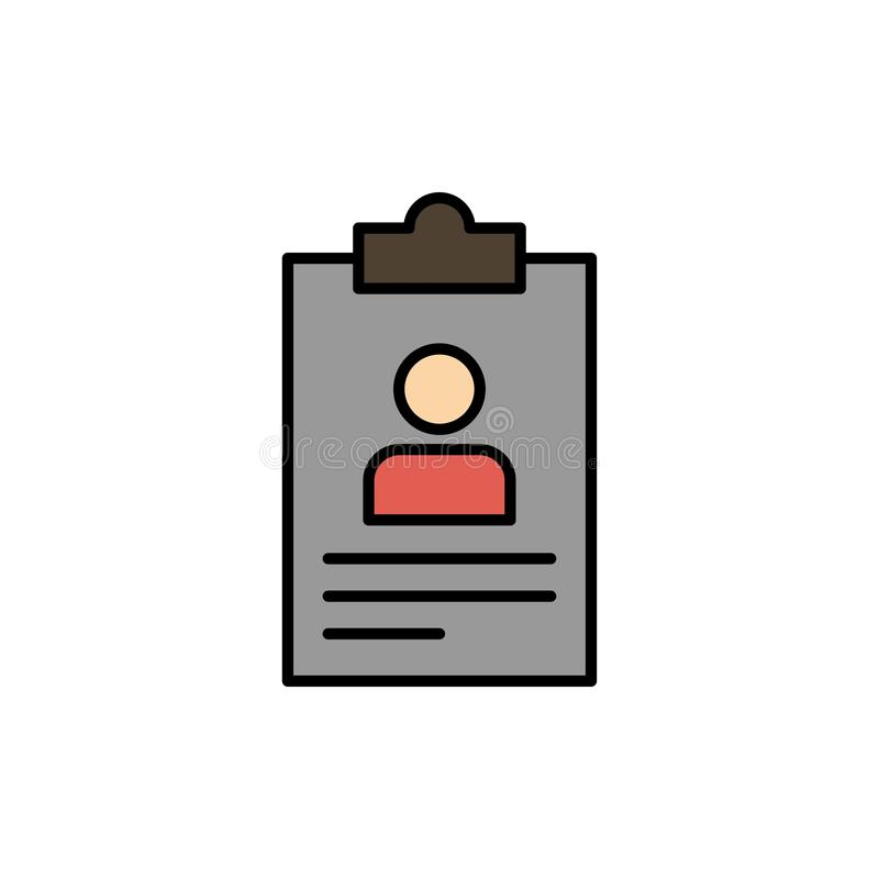 简历,应用,剪贴板,课程,Cv平的颜色象 传染媒介象横幅模板 皇族释放例证