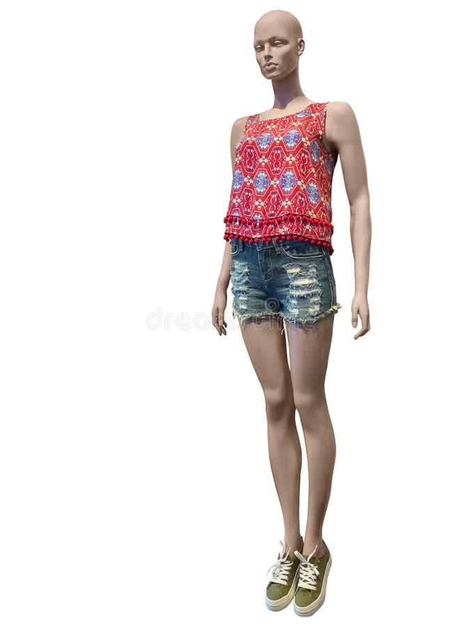 简而言之和上面穿戴的母时装模特 库存图片